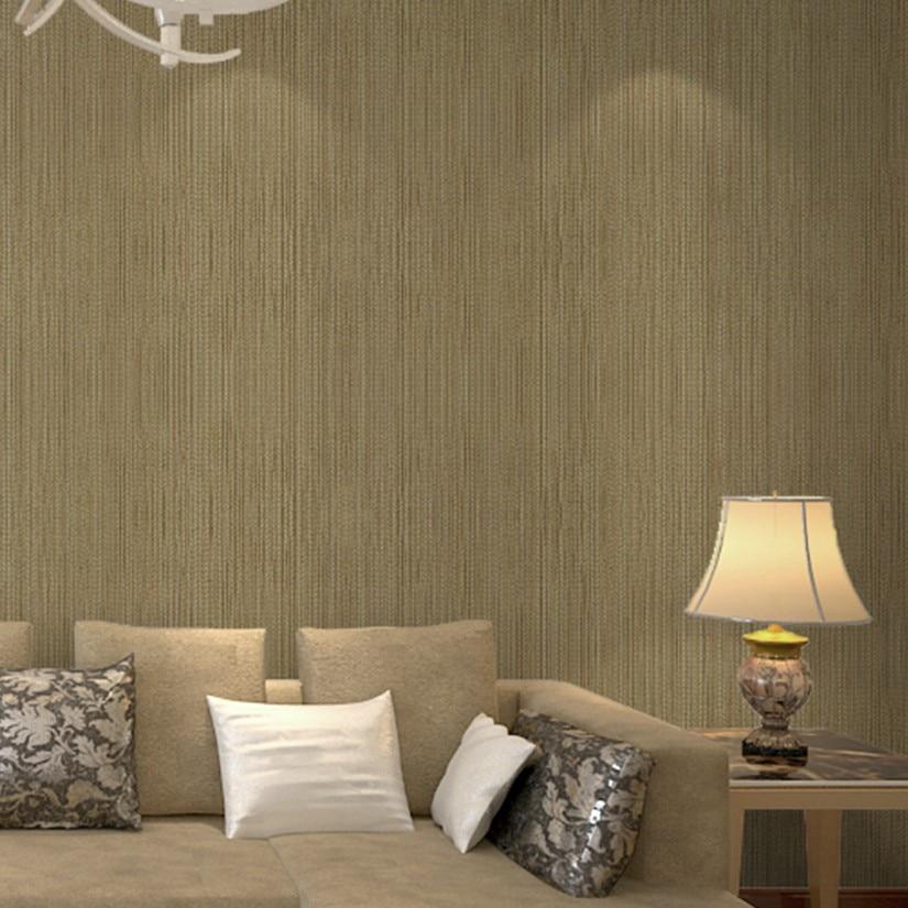 Popular brown stripe wallpaper buy cheap brown stripe for Cheap plain grey wallpaper