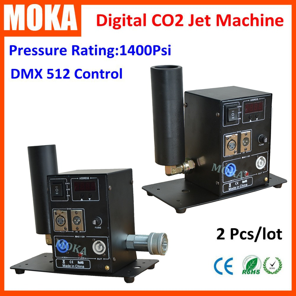 2 Pcs/lot powerful easy angle co2 jet machine with LCD display screen dmx special effect cryo co2 jet blaster fog co2 machine 4pcs lot fligt case special effect co2 cryo jet dj equipment co2 smoke machine for clubs concert theater