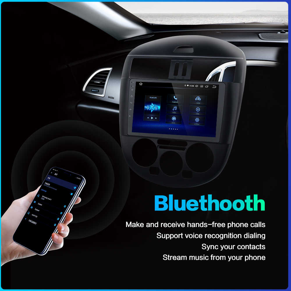 """Dasaita 9 """"車 1 Din ラジオアンドレ oid 9.0 日産ティーダ 2011 2012 2013 2014 の Bluetooth Gps ナビゲーション MP3 1080 1080p ビデオ"""