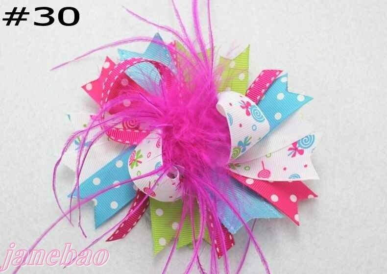 72 шт., модные изысканные банты для волос для девочек, популярные модные банты для волос