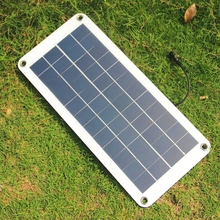High Quality 10.5W 12V Solar Cell Panel Charger Semi-Flexible Solar Panel Transparent With DC Output Waterproof Free Shipping