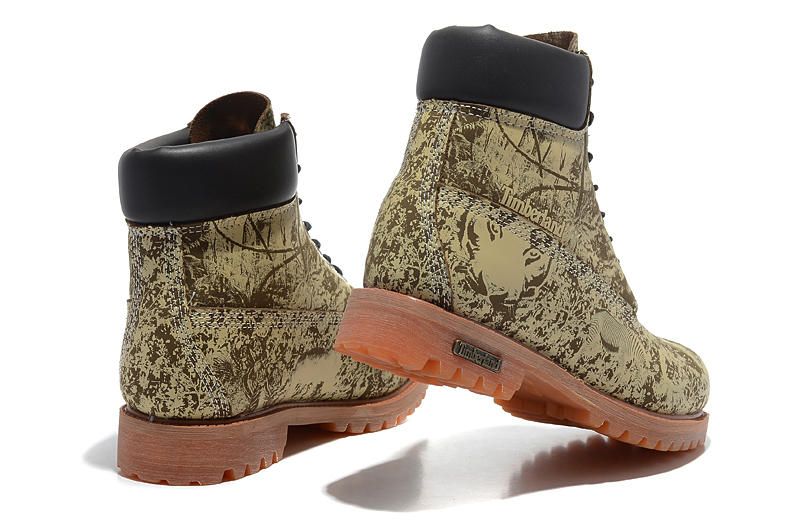 Original Super TIMBERLAND Animal Prints Men Premium Ankle Martin Boots,Man Genuine Leather Timber Outdoor Casual Shoes 10083 2