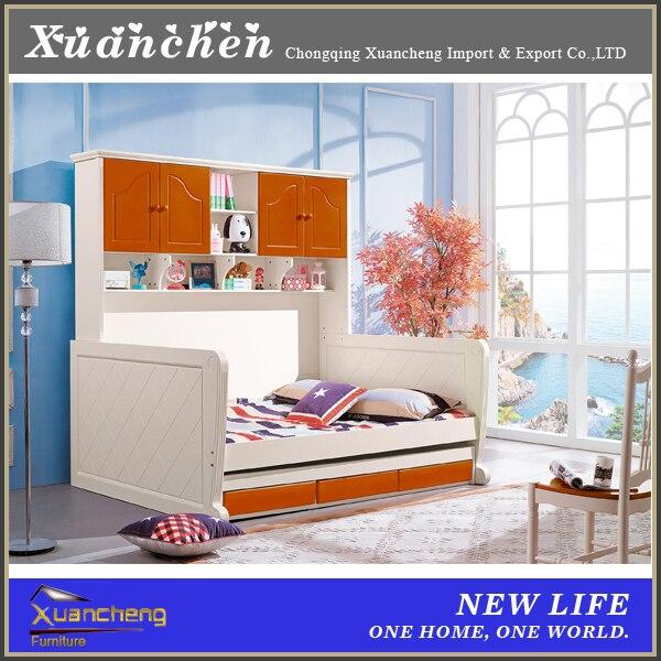 De dos pisos cama, muebles de madera dormitorio de dos pisos de ...