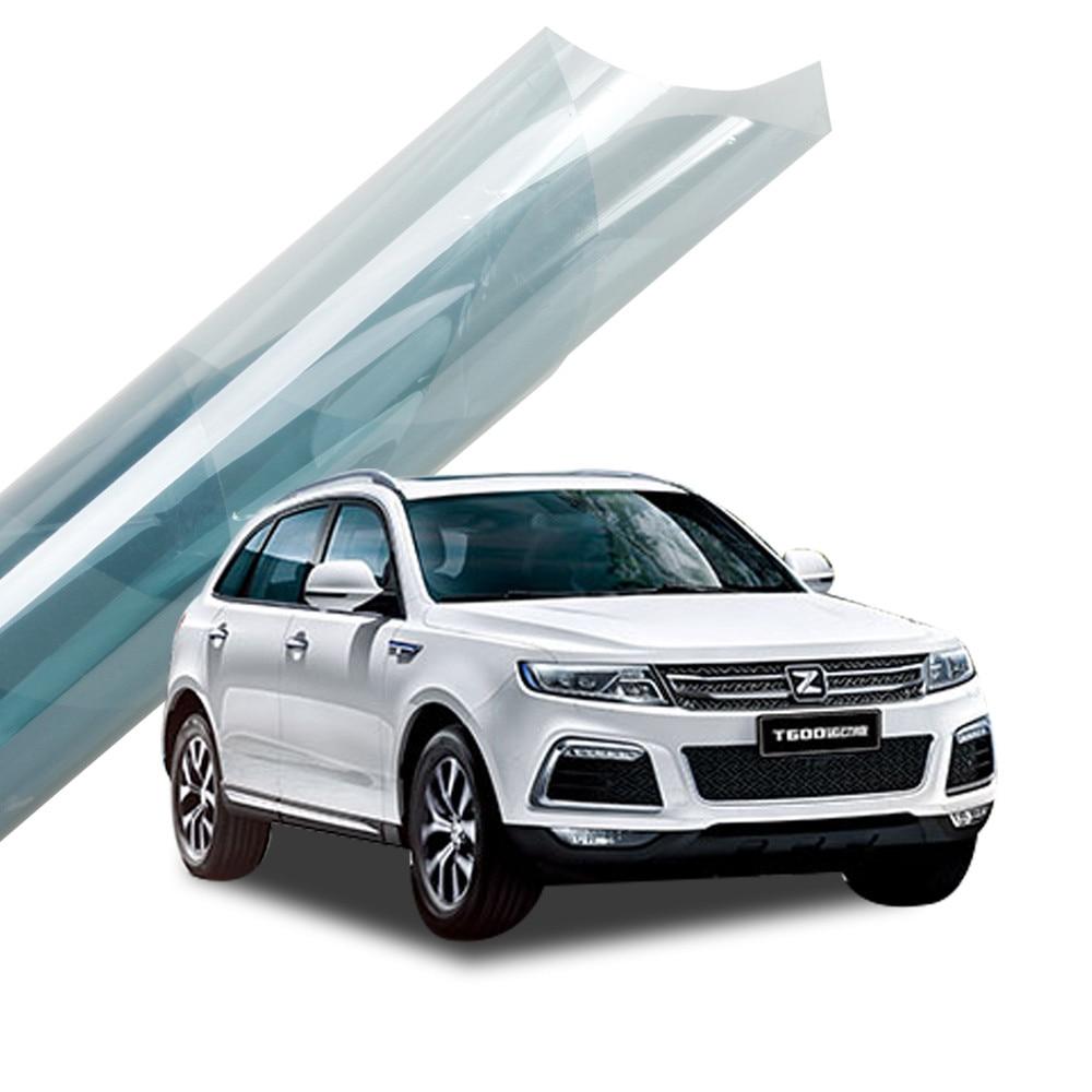 1x30m Sunice 75% VLT bleu clair fenêtre teinte Film 2mil Nano céramique solaire teinte Film Auto voiture accueil chaleur rejet voiture feuilles