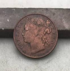 Malaysia Straits Settlements 1899 Britischen Königin Vitoria Viertel 1/4 Cent Rot Kupfer Kopie Münze