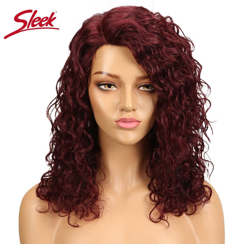 Sleek 99j Deep Curly Human Hair Wigs For Black Women Cheap