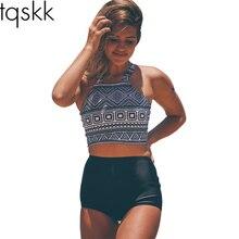 TQSKK 2017 High Waist Bikinis Women Swimwear Plus Size Swimuit Female Retro Beachewear Bikini Set Bathing Suit Swim Wear Biquini