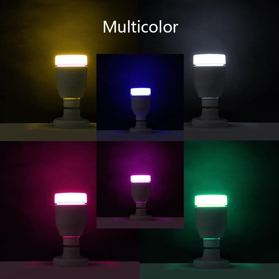 4 Pack E27 Smart RGB Bluetooth Birne Lampe 7 Watt Lautsprecher Drahtlose Musikwiedergabe Bunte Dimmbare LED Glühbirne Licht Urlaub Party - 4