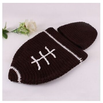 Bh54 Free Shipping Baby Hat Cocoon Set Crochet Beanie Boy Girl
