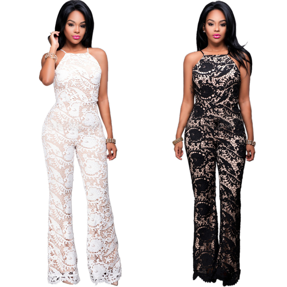 Lace Full Black Bodysuit Women Jumpers And Rompers See ...