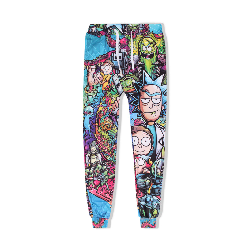 New Rick And Morty Fashion 3D Joggers Pants Harajuku Anime Hip Hop Printed Men Women Unisex Sweatpants Trousers Dropship