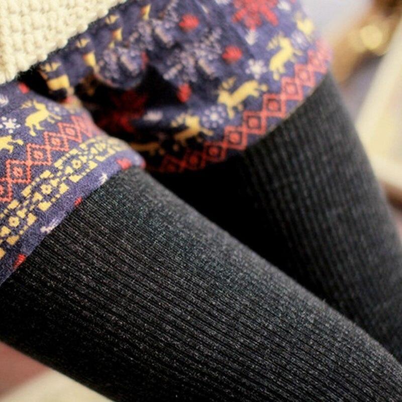 2016 Hot Sale Warm Leggings Women s Winter Warm Skinny Slim Leggings Stretch Knitted Thick Stirrup