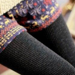 2016 Hot Sale Warm Leggings Women's Winter Warm Skinny Slim Leggings Stretch Knitted Thick Stirrup Pants 5