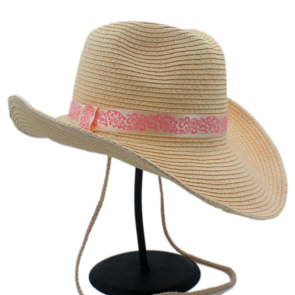 Mode jerami topi koboi pria wanita pria berongga barat cowgirl toquilla jazz  sombrero berkuda cap ayah ratu musim panas cap di Topi Koboi dari Aksesoris  ... bec0cb7d20