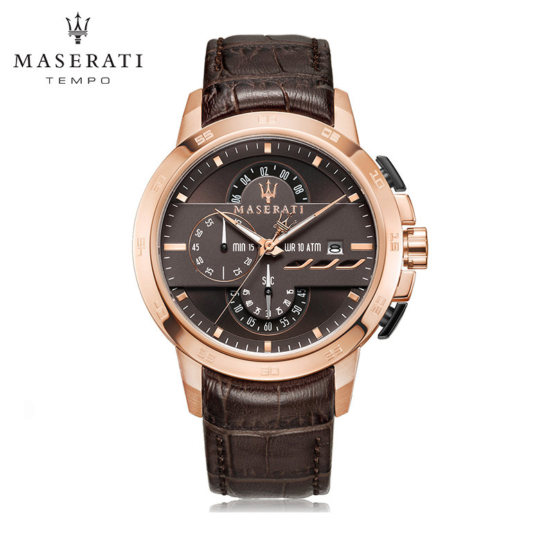 Maserati Casual Business Wristwatches 2018 New Water Resistant Quartz Wristwatches Rose Round Buckle Wristwatches R8871619114 часы maserati