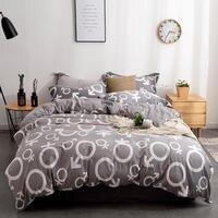 Комплект постельного белья, пододеяльник, простыня, наволочка/комплект постельного белья. серый