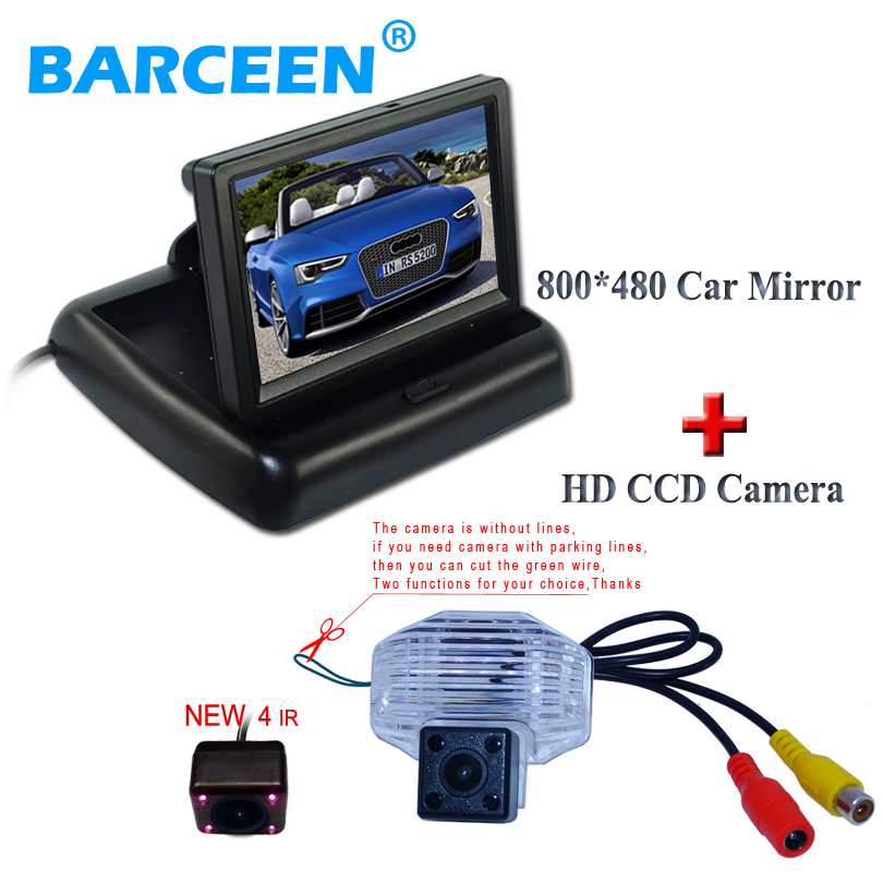 Hot selling 4.3 car display monitor lcd screen with ccd image special car bakcup camera with 4 ir adapt for Toyota Corolla