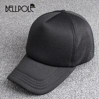 BELLPOLE Black Plain Mesh Snapback Caps Hat Mens Baseball Cap Unisex Gorras Hip Hop Snapbacks Mesh