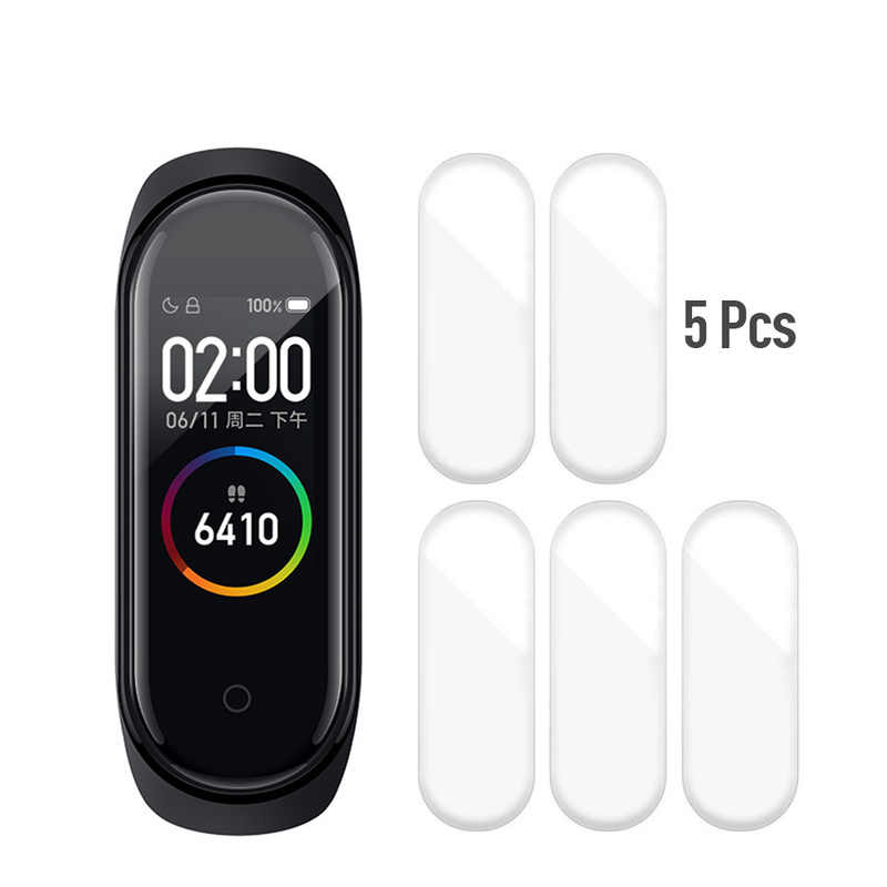 5Pcs Protective Pet Films protector for Xiaomi Band 4 Screen Protector Film for Xiaomi Mi Band 4 Smart Wristband for mi band 4