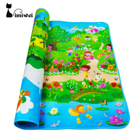 180 120 1 Cm Thicken Play Mat Baby Fruit Letter Educational Crawl Pad Play Learning Safety