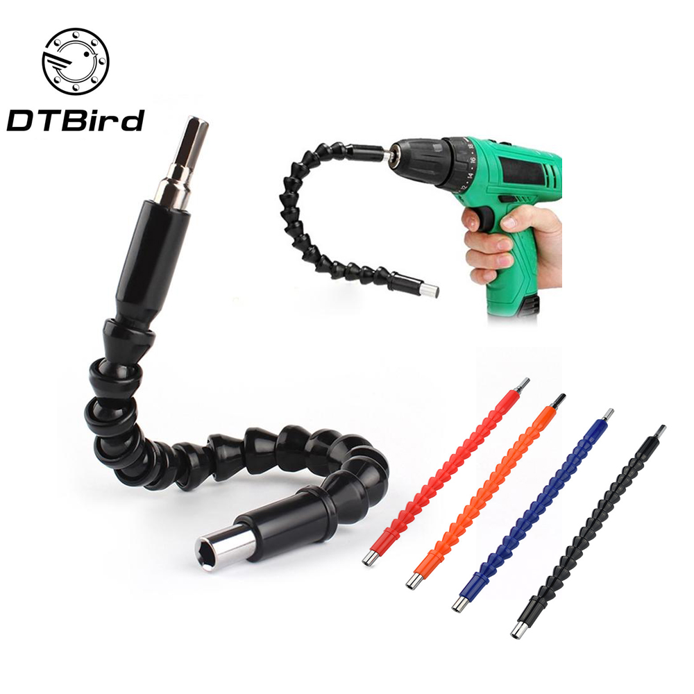 Car Repair Tools Black 295mm Flexible Shaft Bits Extention Screwdriver Bit Holder Connect Link Electronics Drill 1/4 Hex Shank 290mm flexible shaft bit extention screwdriver drill bit holder connect link for electronic drill