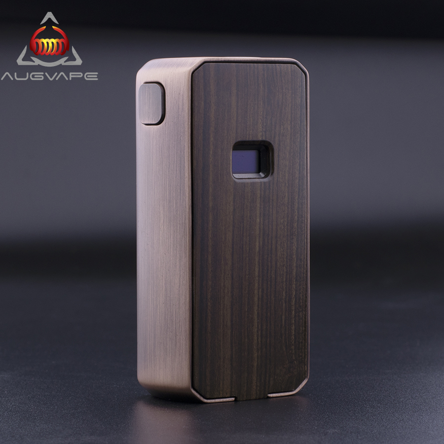 Augvape Druga Foxy Copper Mod Read Resistance Automatically 9.2*5.2MM OLED Digital Display Switchable IML Panels Box Mod Vape