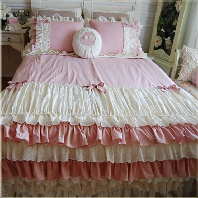 Coreenne Rose Gateau Couches Literie Twin Set Complet Reine Roi