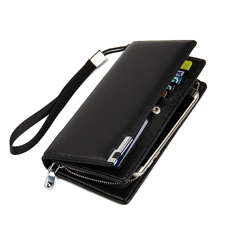 Brand Men PU Leather Clutch Wallet Male Long Wallets Quality Men's Clutches Black Brown Color Large Capacity Zipper Purse WA1031 2016 famous brand new men business brown black clutch wallets bags male real leather high capacity long wallet purses handy bags