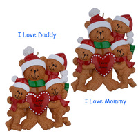 I Love Mommy 4 Personalized Ornament