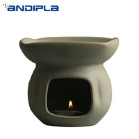 Retro Coarse Pottery Aroma Burners Ceramic Aroma Burners Creative Design Essential Oil Aroma Lamps Candles Heating Diffuser Gift