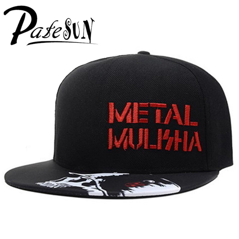 b39a5b520cb PATESUN 2017 Fashion Metal Mulisha Baseball Caps Men Flat Hat Snapback Cap  Women Hip Hop Brand