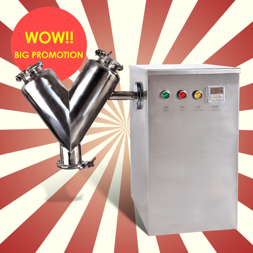 Yeni Laboratuvar V Tipi Toz Mikser Karıştırma Makinesi V-10 Tipi