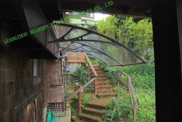 YP80100 80x100 cm 31.5x39in durável policarbonato abrigo da chuva sun sombra tampa da janela toldo de lona ao ar livre por atacado