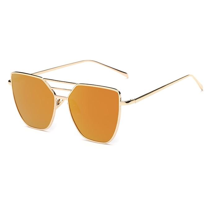 Flat Top Rose Gold Muškarci Ženska ogledala Sunčane naočale Modni - Pribor za odjeću - Foto 5