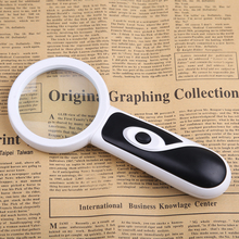 цена на BIJIA Handheld 4X 20X Illuminated Magnifier Magnifying Glass Aid Reading for Seniors loupe Jewelry Repair Tool With 2 LED
