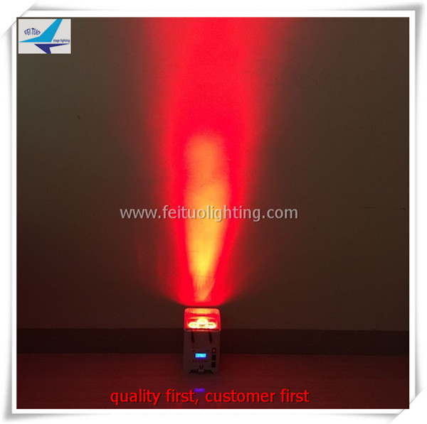 A- 8 x Power Can 6x12W mini uplighting RGBWA + UV DJ DMX Par Can Light With battery wifi use for wedding dj disco building stage