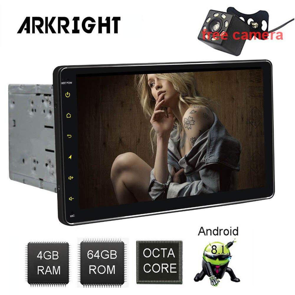 9 2Din 4 64GB Android 8 1 DVD player Wifi GPS Bluetooth universal Car Radio Multimedia