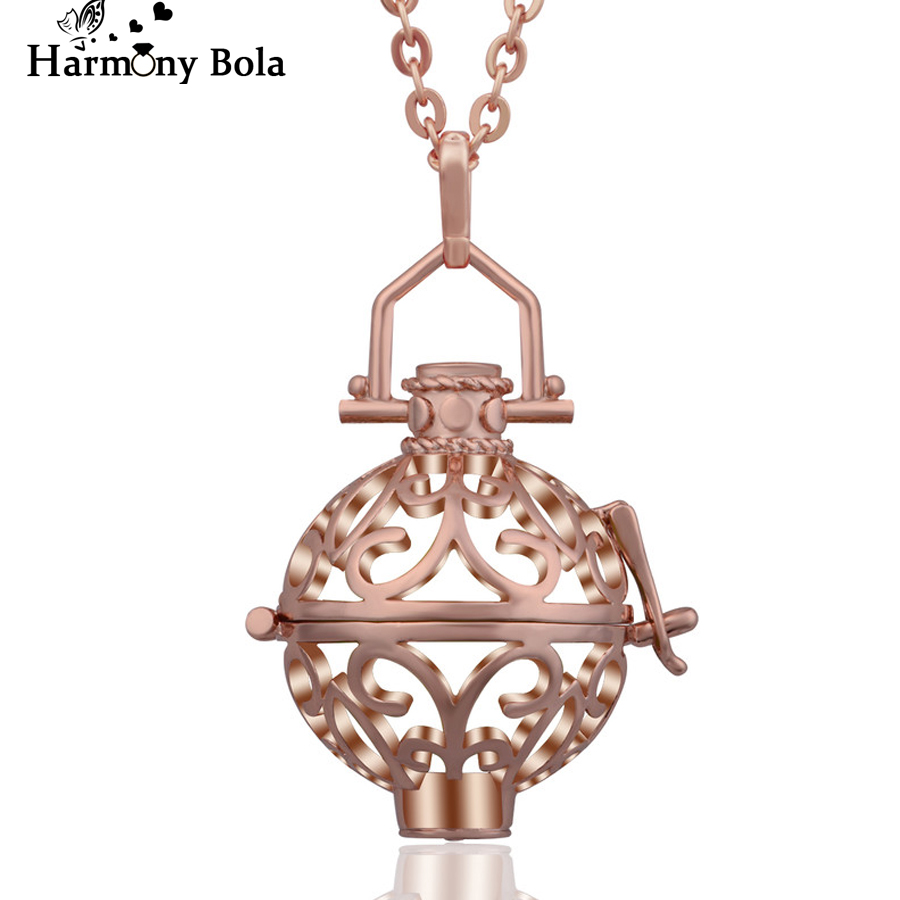 Aliexpress buy harmony bola rose gold color pendants angel aliexpress buy harmony bola rose gold color pendants angel caller ball locket cage pendant necklace jewelry for pregnant women gift k03r20 from mozeypictures Choice Image