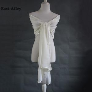 Image 3 - אביזרי חתונה הכלה שיפון דקה גלימת משיכת הכתפיים גלישת צעיף גנב צעיף כלה נשוי