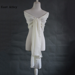 Image 3 - Bride Chiffon Wedding Accessories Shrug Wrap Shawl Married Scarf Bridal Stole Thin Cape