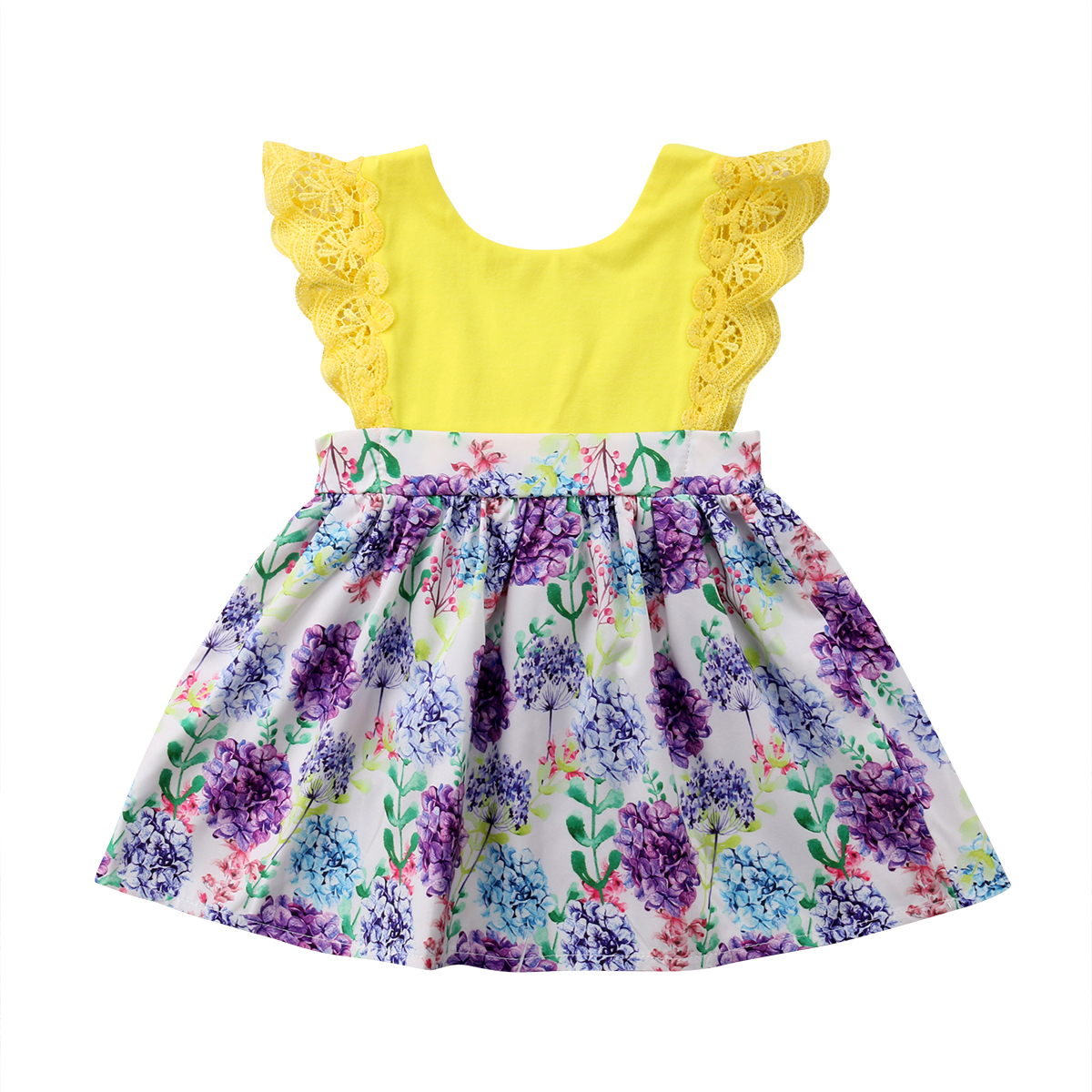 13e57858413 ... Kid Baby Girl Clothes Sister Matching Floral Cotton Casual Popular Romper  Dress Jumpsuit Family Outfit Set. В избранное. gallery image