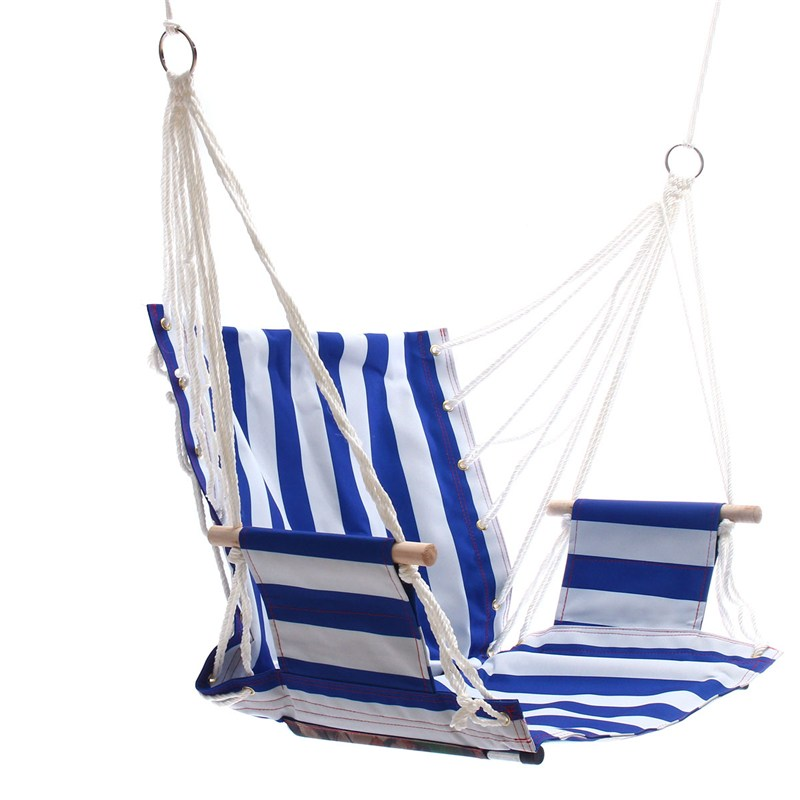 Sgodde portable hammock hanging rope chair porch swing for Indoor hanging rope chair