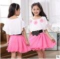 Retail 2016 summer new flower girl dress children loose type big virgin dresses best-selling children's new children's clothing