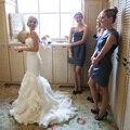 Top Fashion Real 2017 Rushed Casamento Mermaid Wedding Dress Floor-length Ruffles Court Sweetheart Sleeveless Vestido De Noiva