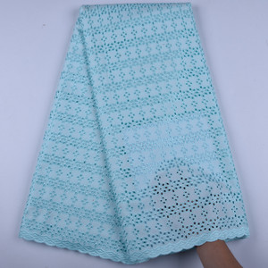 Image 4 - Sky Blue African Lace Fabric 2019 High Quality Swiss Voile Lace In Switzerland African Tulle Lace Materials For Man 1599