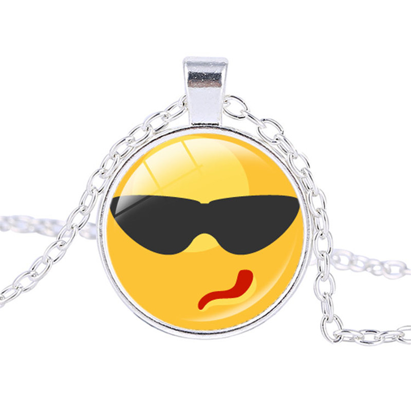 Aliexpress buy perfect gift interesting chat smiley face interesting chat smiley face facial expression necklace handmade jewelry pendants smiley face pendant jewelry from reliable pendant jewelry suppliers on aloadofball