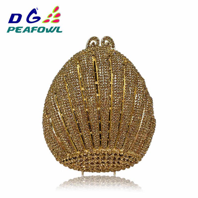 DG Павлин прекрасный Для женщин металлик украшенный бриллиантом клатч сумка Классическая мода Малый Сумочка для вечеринок Сумочка три цвета
