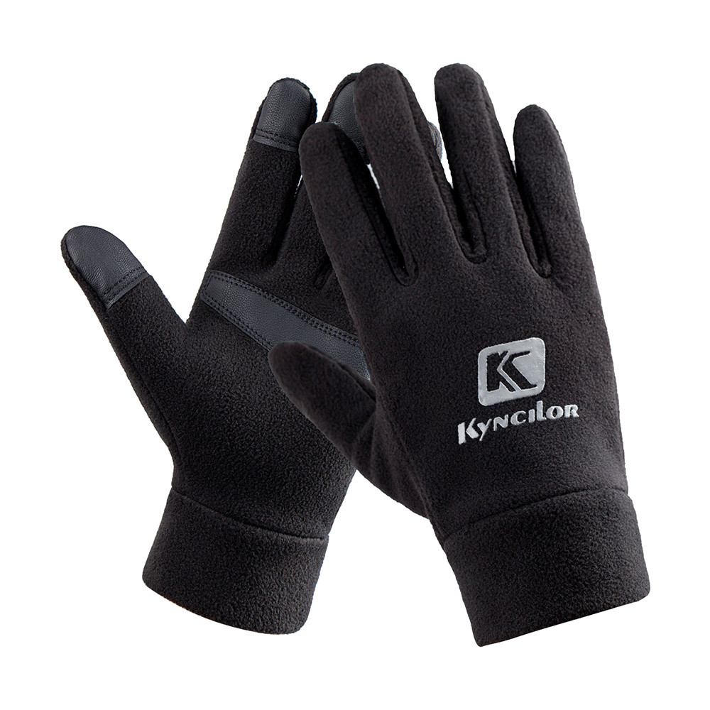 Winter Warm Ski Gloves Windproof Touch Screen Fleece Fishing Gloves High Quality Pesca Equipment Outdoor Gloves