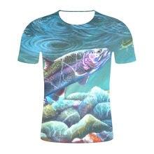 6bf4a6856 2019 new summer men leisure 3d printing t shirt funny fish men/women tshirts  Hip hop 3D T-shirt Harajuku Fishing tees tops