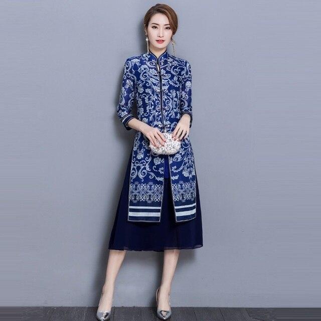 Two Piece Set Women Dress Suits 2018 New Autumn Fashion Elegant